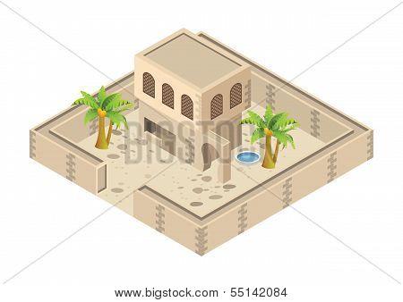 isometric arab house
