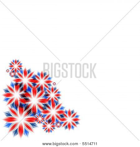 The Celebratory card with england flag colors poster