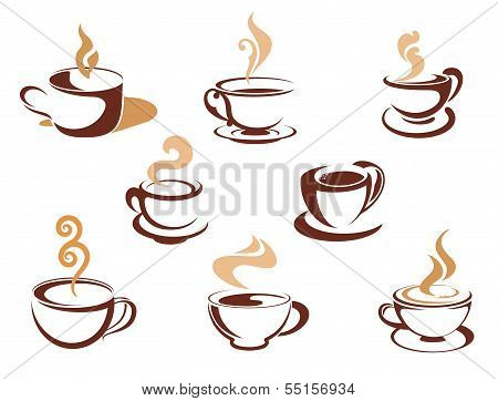 Cups With Fragrant Coffee