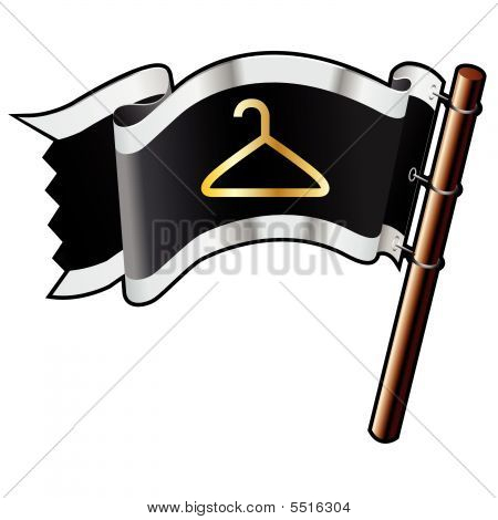 Coathanger Icon On Pirate Flag