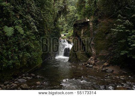 Waterfall in Mindo