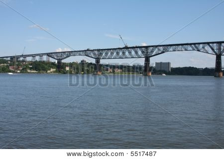 Construction On The Poughkeepsie Bridge