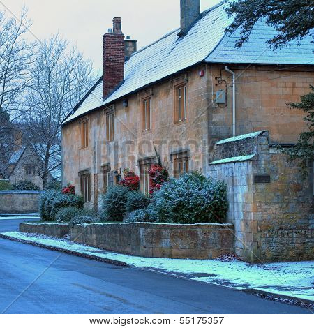 Cotswold Cottages in Winter