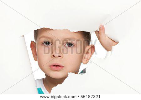Curious Small Boy