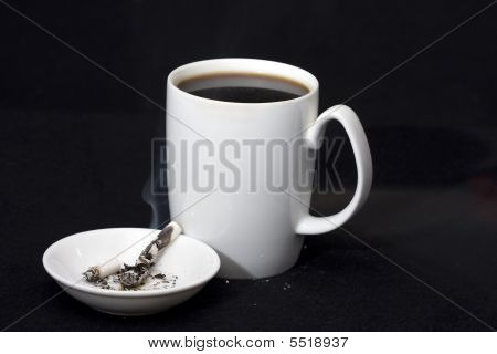 Cigarettes Coffee Ashtray