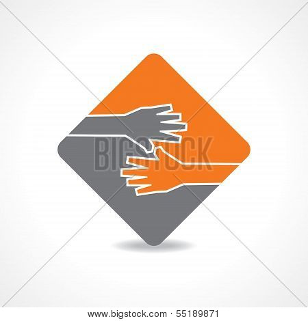 Businessman hand shaking