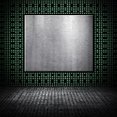 metal background with chip pattern poster