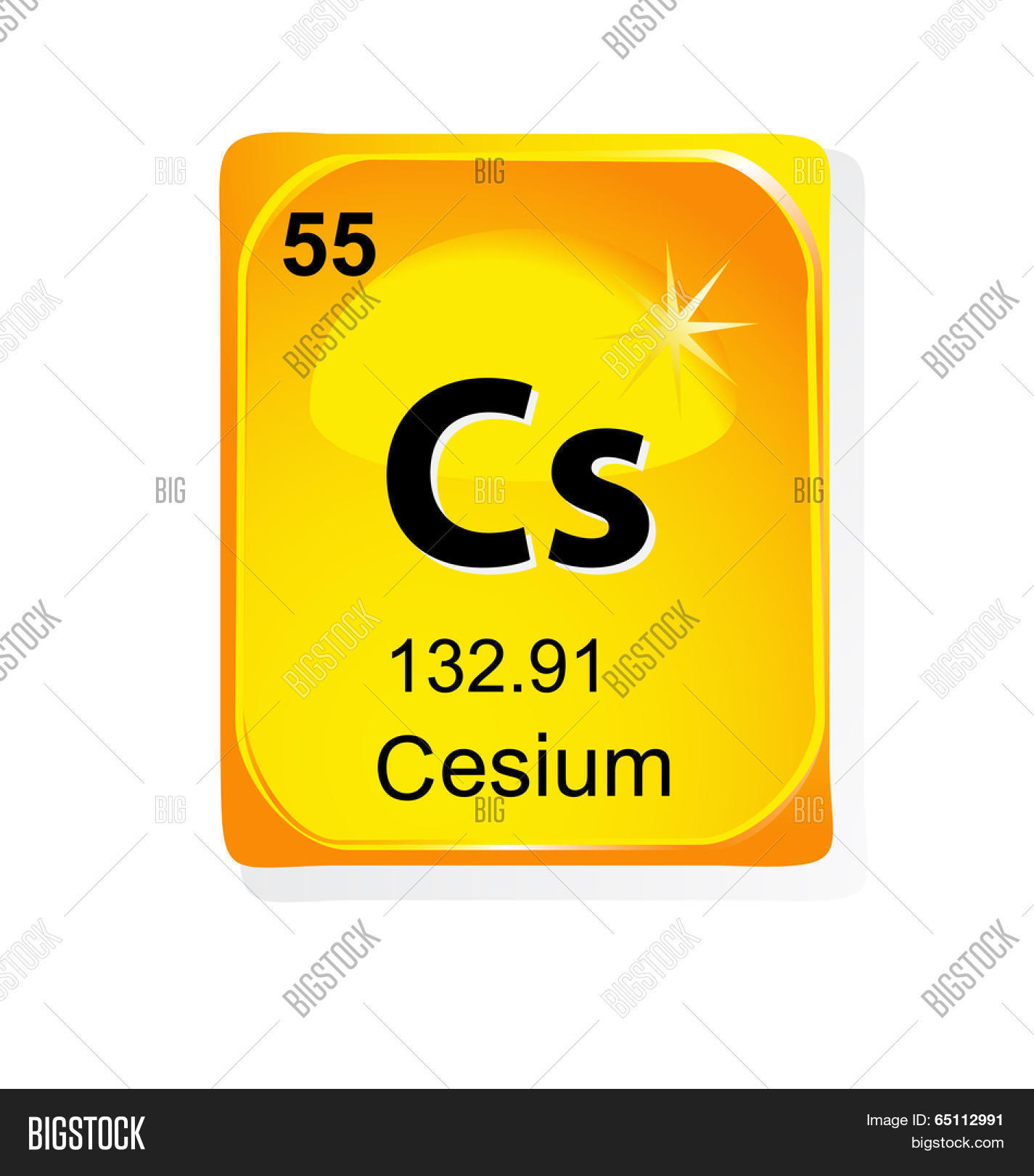 Cesium chemical vector photo free trial bigstock cesium chemical element with atomic number symbol and weight urtaz Gallery