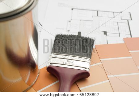 Prepares the architectural floorplan for a residence; focus on brush