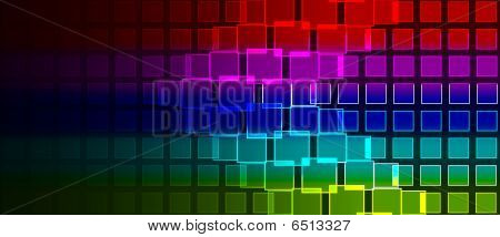Rainbow Squares Composition