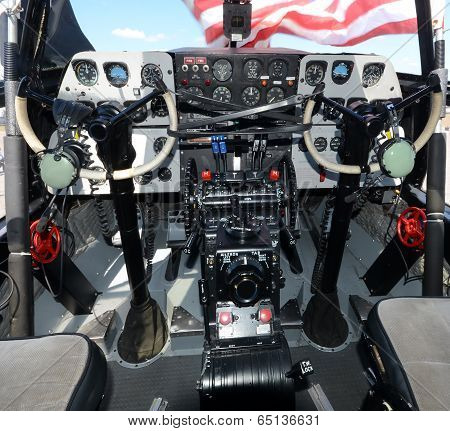 Turboprop Airplane Cockpit