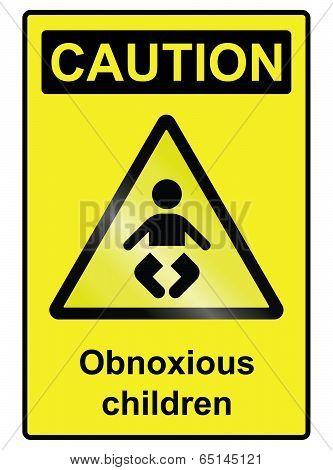 Children hazard Sign