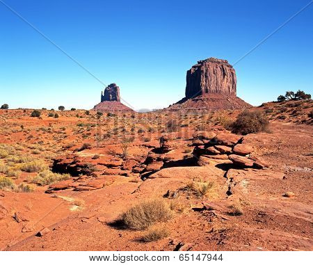Desert landscape, Monument Valley.