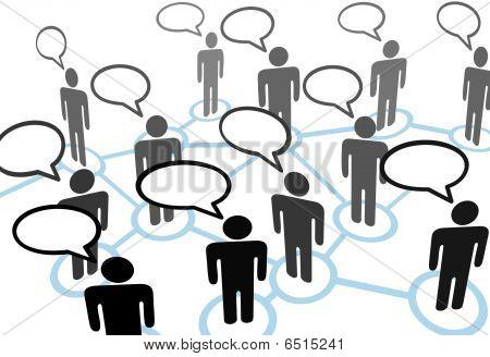 Everybodys falando a rede de comunicação de bolha do discurso