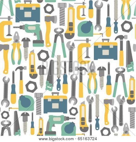 seamless pattern with tools icons