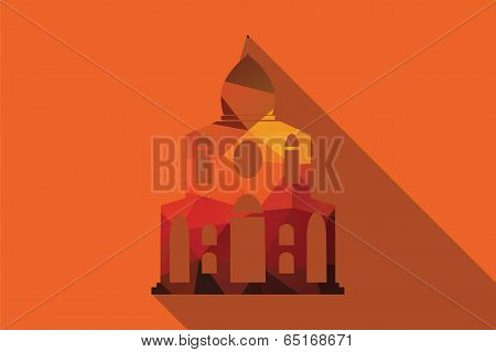 World landmark in UK, London, Europe, vector illustration poster