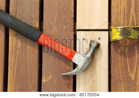 Aligning New Wood Into Cedar Deck