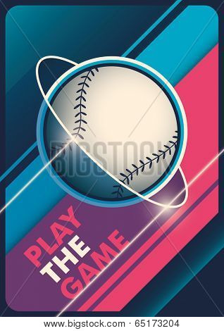 Modern baseball poster design. Vector illustration.