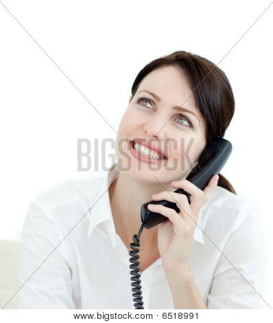 Attractive Businesswoman On Phone