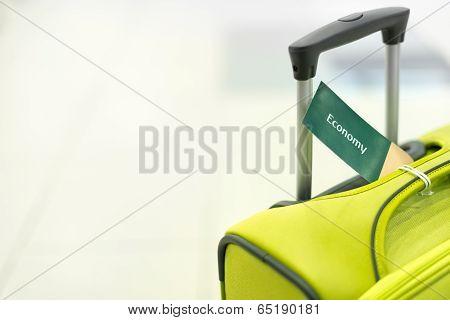 Travel Suitcase On White Background.