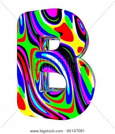 Psychedelic alphabet-B