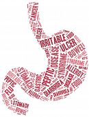 Tag or word cloud stomach disease related poster