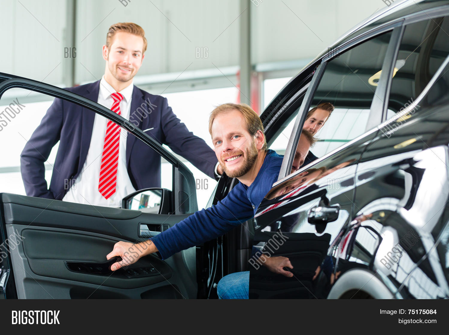 Seller Car Salesman Image Photo Free Trial Bigstock
