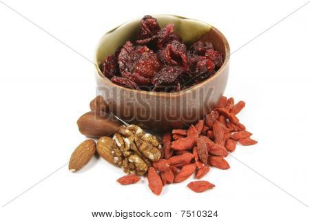 Cranberries In A Small Bowl