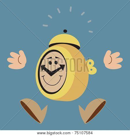 Jumping Alarm Clock
