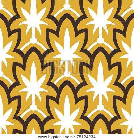 Vintage hand drawn art deco pattern
