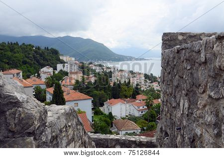 View At The Herceg Novi, Montenegro, From The Ancient Fortress Forte Mare