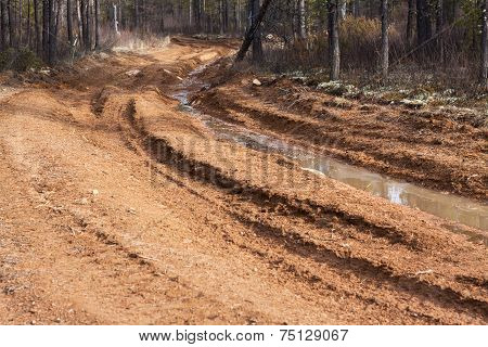 Dirt Road With Mud