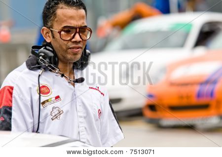 Car Technician In The Pits