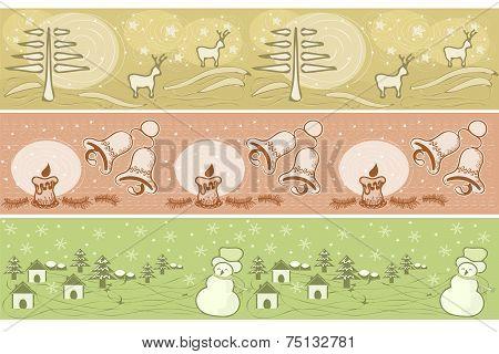 christmas decorative borders