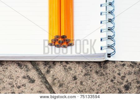 Note Book And Pencils