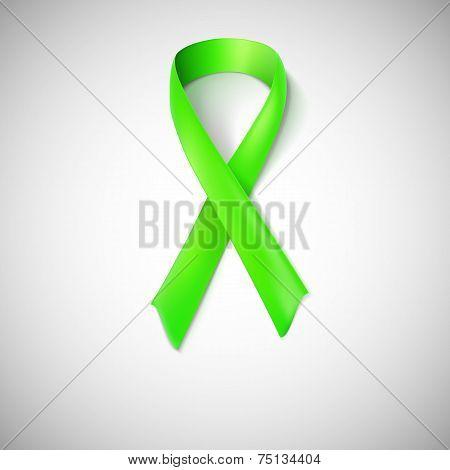 Green ribbon loop.
