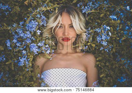 Romantic Lady In The Garden