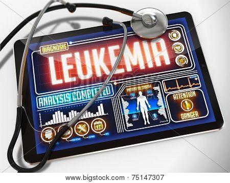Leukemia on the Display of Medical Tablet.