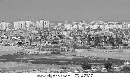 Black and white Gaza