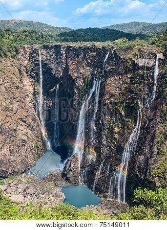 Jog waterfalls in Southern India