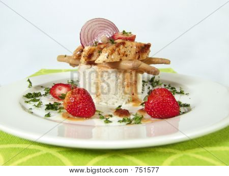 Chicken breast with asparagos