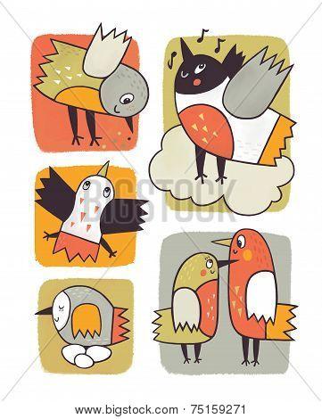 ornamental birds