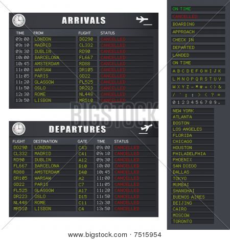 Flight information - Set 2 - Cancelled Flights