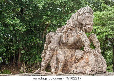 Crumbling Statue