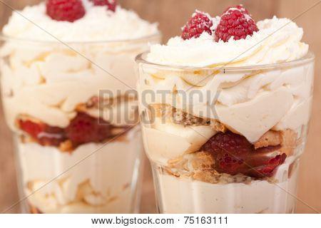 Raspberry, Lemon And Coconut Desert