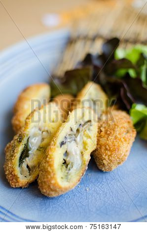Deep Fried Breadcrumbed Fresh Sea Oyster