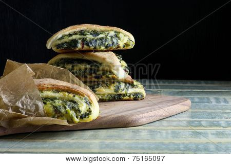 Spinach Yeast Dough Strudel Swiss Chard Rolls
