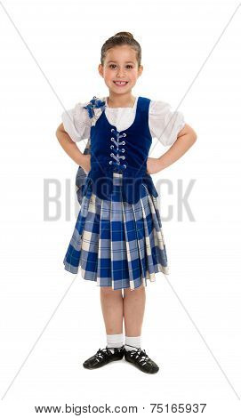 Highland Dancer In Celtic Tartan