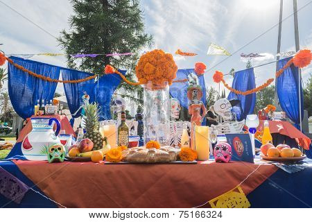 Altar On Display At The 15Th Annual Day Of The Dead Festival