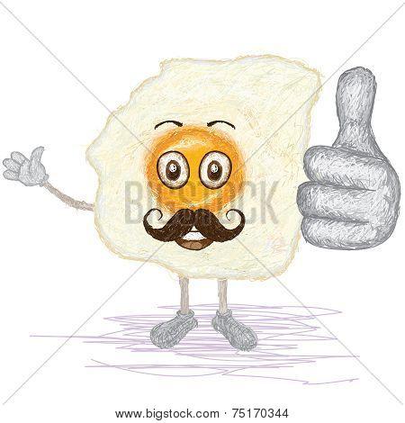 Fried Egg Mustache